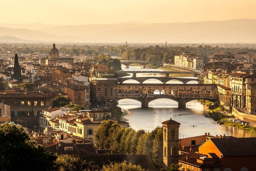 Florence, Italy river view